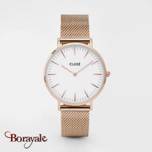 Montre Cluse La Bohème Mesh Rose Gold/White CL18112-CW0101201001