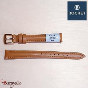 Bracelet de montre Rochet , New York de couleur : caramel, 12 mm