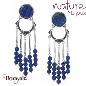 Collection Cobalt, Boucles d'oreilles NATURE Bijoux 11--25810