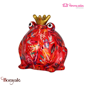 Grenouille tirelire décorative  Pomme Pidou King Frog Freddy Taille M