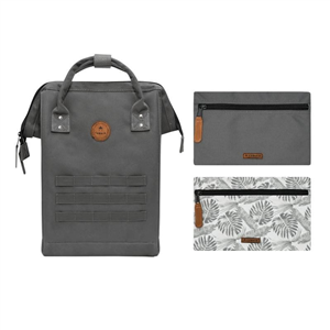 Sac à Dos Medium + 2 poches CABAIA Nylon Detroit Gris anthracite