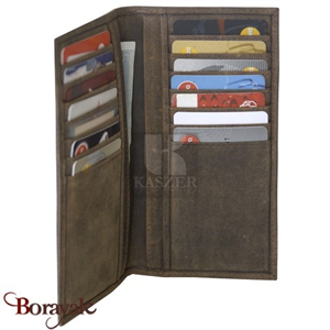 Porte cartes en cuir de vachette KASZER, Collection Oregon (520904-MC6)