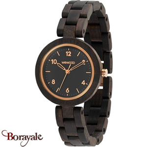 Montre WEWOOD Daphné black Rough Rose 70234-315