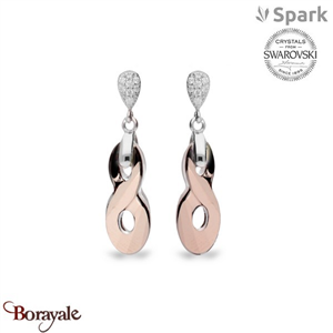 Boucles d'oreilles spark bijoux made with swarovski elements a449rg