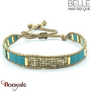 "Bracelet ""Belle mais pas que"" collection Golden Blue Lagoon B-1017-GBL"