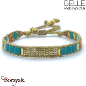 "Bracelet ""Belle mais pas que"" Collection Golden Caraïbes B-1017-GC"