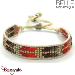 "Bracelet ""Belle mais pas que"" collection Golden rouge B-1018-GRO"