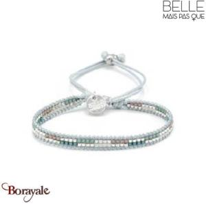 Bracelet -Belle mais pas que- collection Silver Blue Iced B-1541-SIBLUE