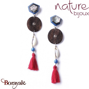 Collection Manifesto, Boucles d'oreilles NATURE Bijoux 11--25932