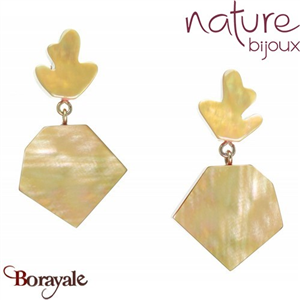 Collection Hybride, Boucles d'oreilles NATURE Bijoux 12--25330