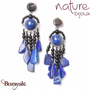 Collection Deep Blue, Boucles d'oreilles Nature Bijoux 12--72062
