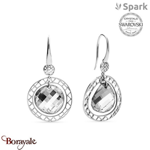 Boucles d'oreilles SPARK made with Swarovski Elements collection Ajour A018W