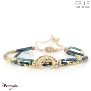 bracelet -Belle mais pas que- collection Gold Pastel Green B-1797-PASTL