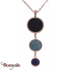 Collection Nature et élégance, Collier Onyx, Amazonite et Sodalite YOLA IG-412