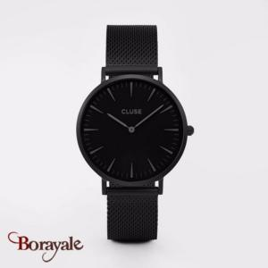 Montre Cluse La Bohème Mesh Full Black CL18111-CW0101201005