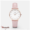 Montre CLUSE minuit rose gold-blanc, cuir rose