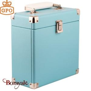 Vinyl case GPO 45 tours - blue
