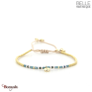 bracelet -Belle mais pas que- collection Gold Pastel Green B-1828-PASTL