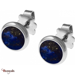Boucles d'oreilles Lapis Lazuli, Collection: Cabochon YOLA