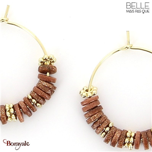 Boucles d'oreilles -Belle mais pas que- collection NoaMay BO7 NOAMAY-BO7