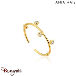 Touch Of Sparkle, Bague Argent Plaqué OR ANIA HAIE R003-02G