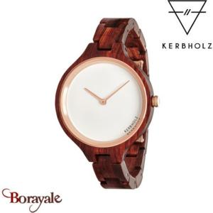 Montre KERBHOLZ HINZE Dame Bois de Rose/IP Rose/Ø 37 mm  HIN9561