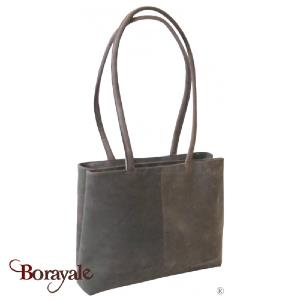 Sac épaule KASZER collection Kansas en cuir de buffle marron 20057