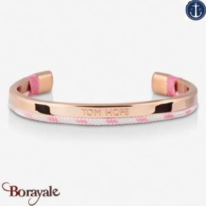 Bracelet Tom Hope Hybrid Cuff, Rose Gold-White-PK: Taille M