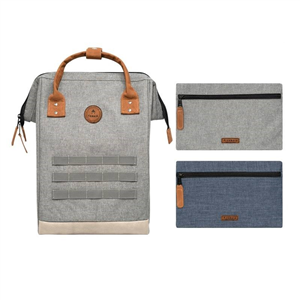Sac à Dos Medium + 2 poches CABAIA Nylon New York Gris