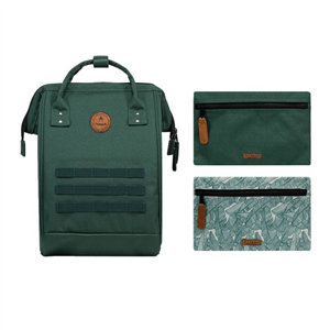 Sac à Dos Medium + 2 poches CABAIA Nylon Montréal Dark Green