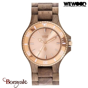 Montre en bois WEWOOD Date MB Nut Rough Rose 70362-727
