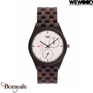 Montre en bois WEWOOD Rider collection Choco Silver 70373-526
