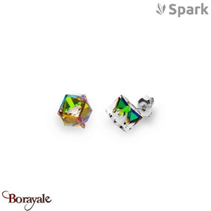 Boucles d'oreilles SPARK collection cube made with Swarovski Elements A58ND