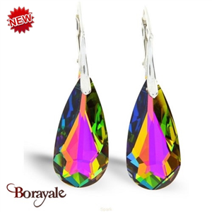 Boucles d'oreilles SPARK bijoux made with Swarovski Elements A73ND