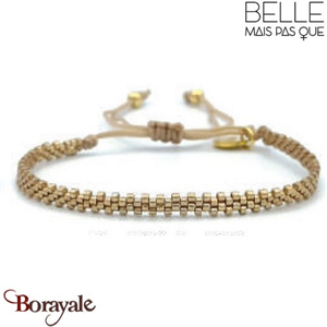 "Bracelet ""Belle mais pas que"" Collection Golden Caraïbes B-1368-GC"
