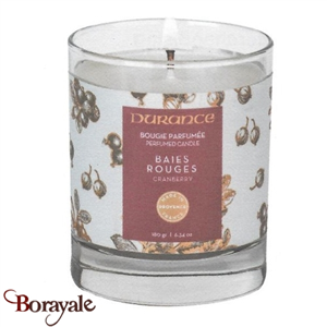 Bougie traditionnelle DURANCE 180g Baies rouges