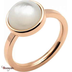 Bague nacre blanche, Collection: Cabochon YOLA Taille 56