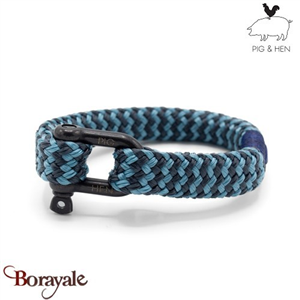 Bracelet PIG AND HEN, Gorgeous George  sky-blue-slate-gray-black L (20cm)