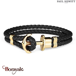 Bracelet PAUL HEWITT collection Phreps cuir PH-PH-L-G-B-M ( taille M )