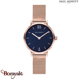 Montre Dame Acier IP Rose/Mesh Acier IP Rose/Ø28 mm PAUL HEWITT PH-SA-R-XS-B-45S