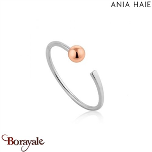 Out Of This World, Bague Argent Rhodié et Or rose ANIA HAIE R001-02T