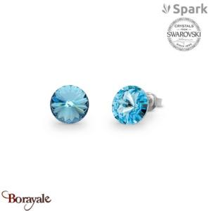 Boucles d'oreilles SPARK with Swarovski : Sweet Candy 8mm - Aquamarine