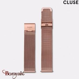 17759d32a968ad Bracelet de montre cluse minuit 16 mm acier-milanais, mesh rose gold