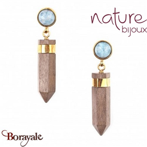 Collection Wood Diamonds, Boucles d'oreilles Nature Bijoux 12--73907