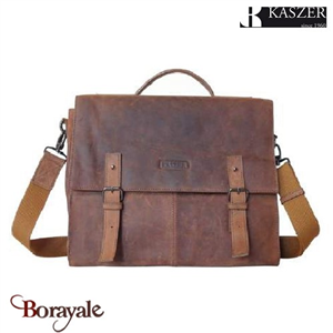 Cartable KASZER collection Nevada en cuir de vachette 20833-C6