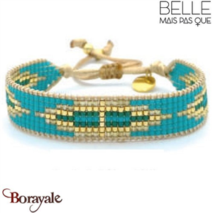"Bracelet ""Belle mais pas que"" Collection Gold Bora Bora B-1008-GBB"