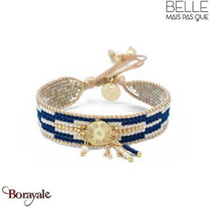 Bracelet -Belle mais pas que- collection Golden Deep Blue B-1533-GODEEP