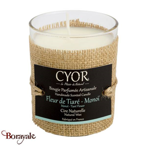Bougie Parfumée CYOR Fleur de Tiaré-Monoï: Made in France
