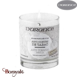 Bougie traditionnelle DURANCE 180g Anti Odeur de tabac