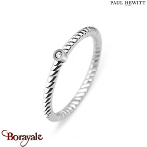 Bague North Star Acier/Pierre - Taille 52  PAUL HEWITT Collection North Star PH-